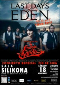 LAST DAYS OF EDEN + CRUSADER OF BARDS EN MADRID @ Sala Silikona