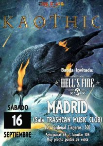 KAOTHIC+HELL'S FIRE EN MADRID @ Sala Trashscan