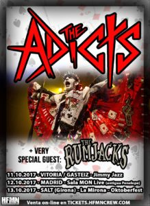 THE ADICTS Y THE RUMJACKS EN MADRID @ Sala Mon Live