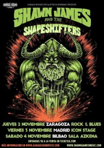 SHAWN JAMES AND THE SHAPESHIGTERS EN MADRID @ Icon Stage