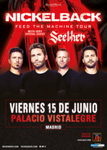 NICKELBACK EN MADRID @ Palacio de Vistalegre