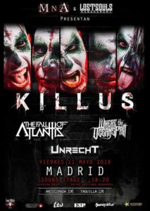 KILLUS + THE FALL OF ATLANTIS + WHERE THE OCEANS FALL EN MADRID @ Sala Sound Stage