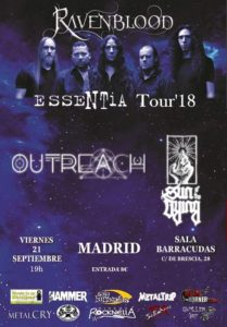 RAVENBLOOD+OUTREACH+SUN OF THE DYNG EN MADRID @ Sala Barracudas