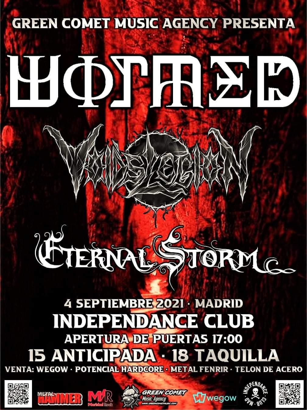 Wormed, Eternal Storm y Void's Legion - Cambio de sala