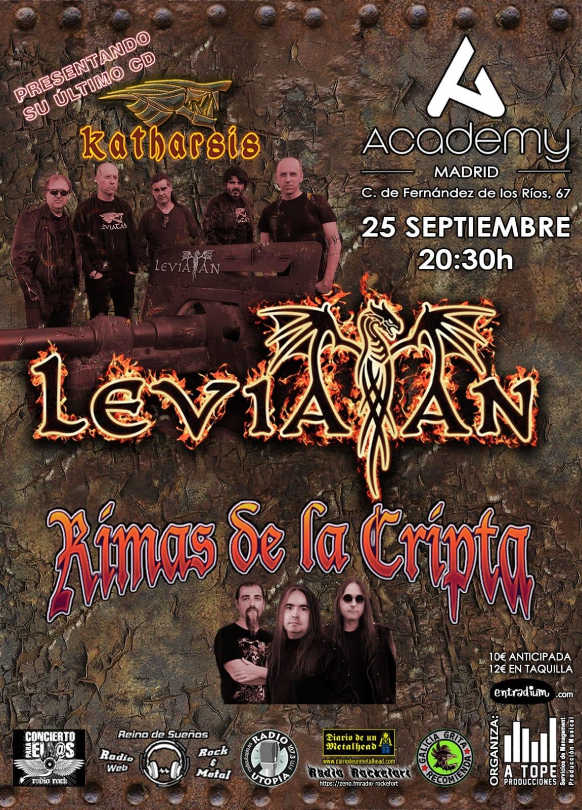 Levitan + Rimas de la Cripta - Sala Academy (Madrid)